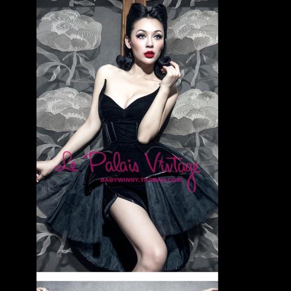 Vintage Black Corset Dress
